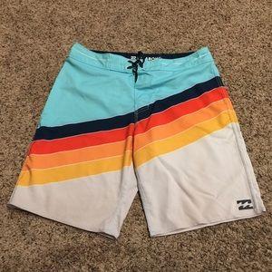 BillaBong Platinum X Multicolor Board Shorts 31